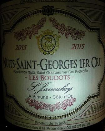 """Nuits-Saint-Georges 1er Cru """"Les Boudots"""" 2015 S.JAVOUHEY Rouge"""