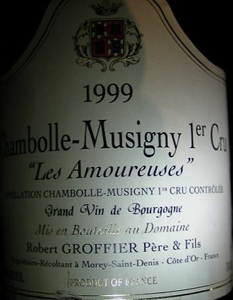 """Chambolle-Musigny 1er Cru """"Les Amoureuses"""" 1999 GROFFIER Rouge"""
