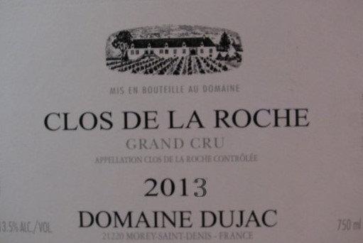 Clos de la Roche Grand Cru 2013 DUJAC Rouge