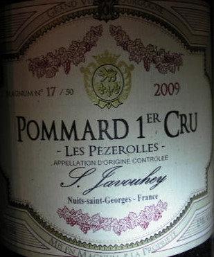 """Pommard 1er Cru """"Les Pézerolles"""" Magnum 2009 S.JAVOUHEY Rouge"""