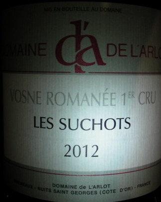 """Vosne-Romanée 1er Cru """"Les Suchots"""" 2012 Dne de l'Arlot Rouge"""