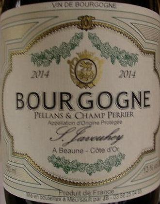 """Bourgogne """"Pellans & Champ Perrier"""" 2014 S.JAVOUHEY Blanc"""