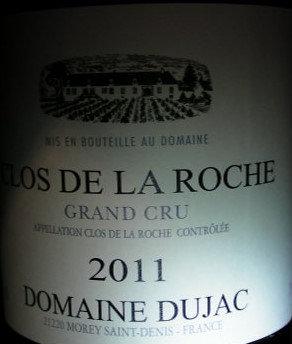 Clos de la Roche Grand Cru 2011 DUJAC Rouge