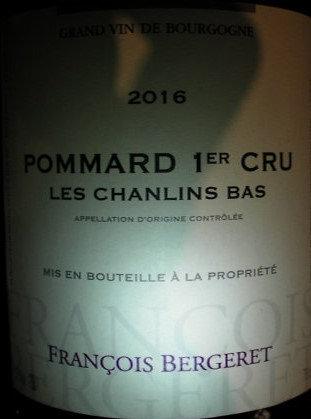 """Pommard 1er Cru """"Chanlins"""" 2016 BERGERET Rouge"""