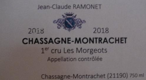 """Chassagne-Montrachet 1er Cru """"Morgeot"""" 2018 RAMONET Blanc"""