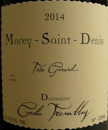 """Morey-Saint-Denis """"Très Girard"""" 2014 Cécile TREMBLAY Rouge"""