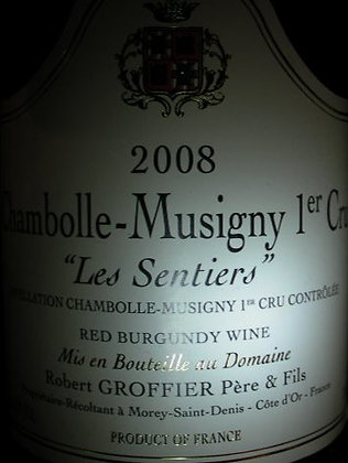 "Chambolle-Musigny 1er Cru ""Les Sentiers"" 2008 GROFFIER Rouge"