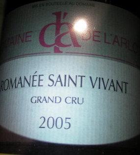 Romanée-Saint-Vivant Grand Cru 2005 Dne de l'Arlot Rouge