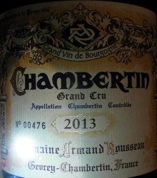 Chambertin Grand Cru 2013 A.ROUSSEAU Rouge