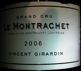 Montrachet Grand Cru 2006 GIRARDIN Blanc