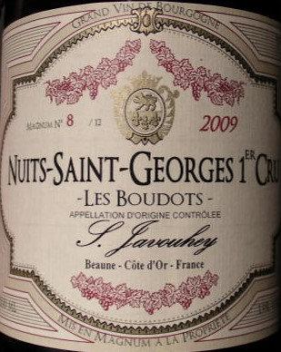 """Nuits-Saint-Georges 1er Cru """"Les Boudots"""" Magnum 2009 S.JAVOUHEY Rouge"""