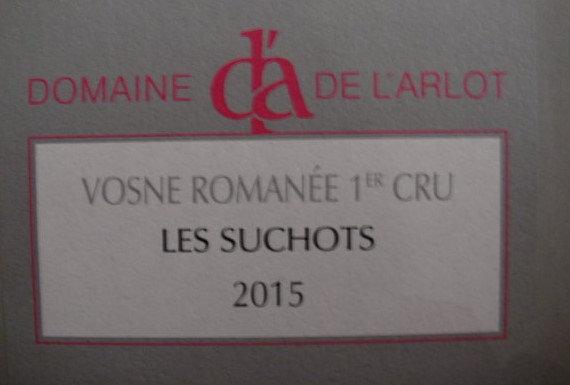 """Vosne-Romanée 1er Cru """"Les Suchots"""" 2015 Dne de l'Arlot Rouge"""