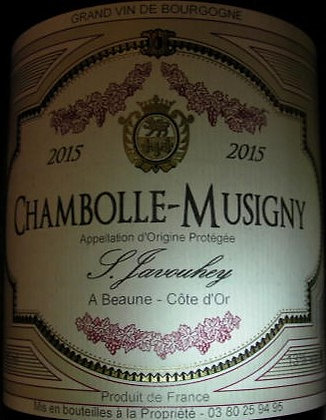 Chambolle-Musigny 2015 S.JAVOUHEY Rouge