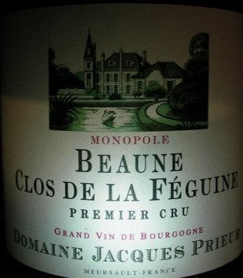 """Beaune 1er Cru """"Clos de la Féguine"""" 2015 J.PRIEUR Rouge"""