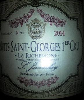 """Nuits-Saint-Georges 1er Cru """"La Richemone"""" Magnum 2014 S.JAVOUHEY Rouge"""