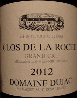 Clos de la Roche Grand Cru 2012 DUJAC Rouge