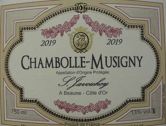 Chambolle-Musigny 2019 S.JAVOUHEY Rouge