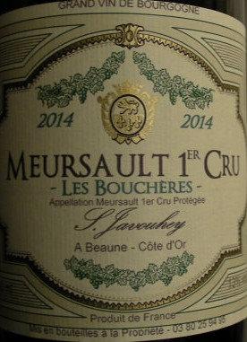 """Meursault 1er Cru """"Les Bouchères"""" 2014 S.JAVOUHEY Blanc"""