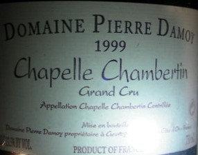 Chapelle-Chambertin Grand Cru 1999 DAMOY Rouge