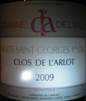 """Nuits-Saint-Georges 1er Cru """"Clos de l'Arlot"""" Magnum 2009 Dne de l'Arlot Rouge"""