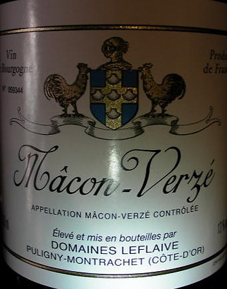 Mâcon-Verzé 2016 Domaines LEFLAIVE Blanc