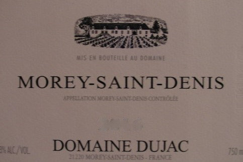 Morey-Saint-Denis 2009 DUJAC Rouge