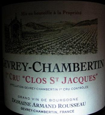"Gevrey-Chambertin 1er Cru ""Clos Saint-Jacques"" 2012 A.ROUSSEAU Rouge"