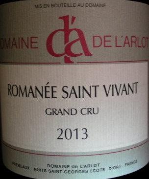 Romanée-Saint-Vivant Grand Cru 2013 Dne de l'Arlot Rouge