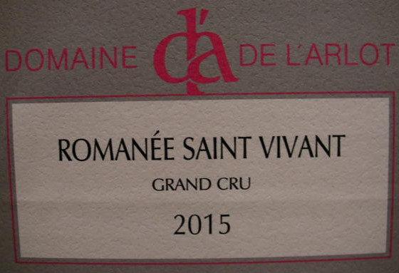 Romanée-Saint-Vivant Grand Cru 2015 Dne de l'Arlot Rouge