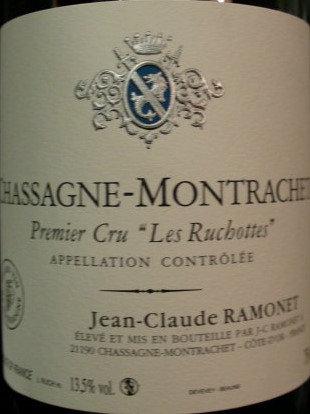 "Chassagne-Montrachet 1er Cru ""Ruchotte"" 2009 RAMONET Blanc"