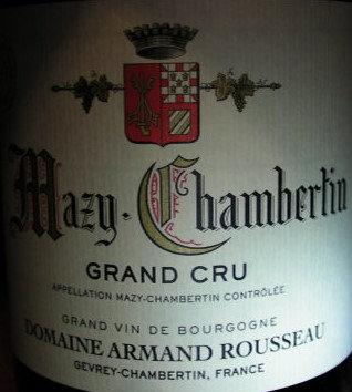 Mazis-Chambertin Grand Cru 2012 A.ROUSSEAU Rouge