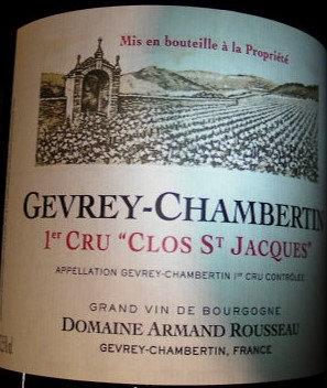 "Gevrey-Chambertin 1er Cru ""Clos Saint-Jacques"" Magnum 2005 A.ROUSSEAU Rouge"