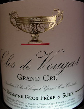 Clos Vougeot Grand Cru 2019 GROS Rouge
