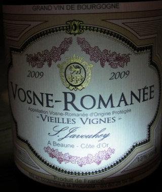 """Vosne-Romanée """"Vieilles Vignes"""" 2009 S.JAVOUHEY Rouge"""