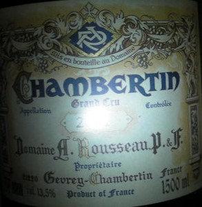 Chambertin Grand Cru Magnum 2011 A.ROUSSEAU Rouge
