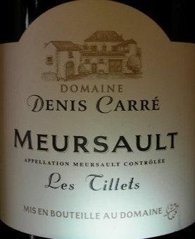"Meursault ""Les Tillets"" 2016 CARRE Blanc"
