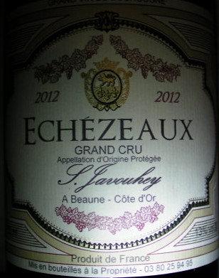 Echézeaux Grand Cru 2012 S.JAVOUHEY Rouge
