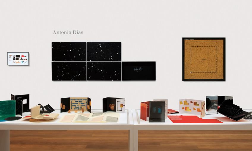 vista da sala de Antonio Dias