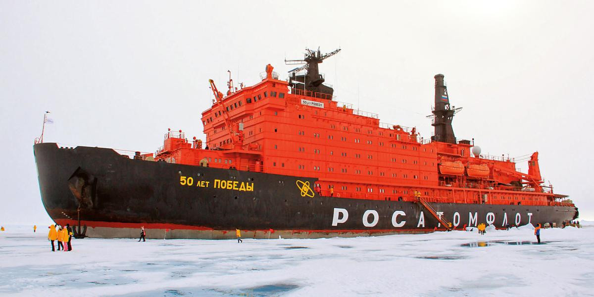 50 years of victory. World's largest Nuclear Icebreaker