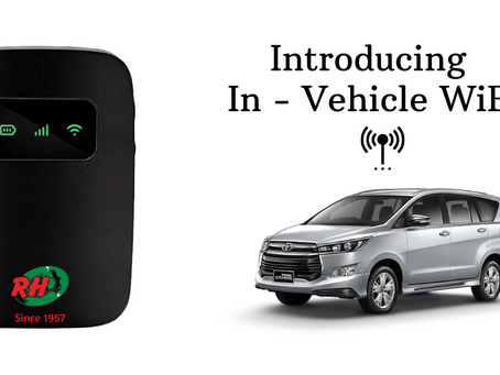 Helping you be connected! Introducing in vehicle WiFi