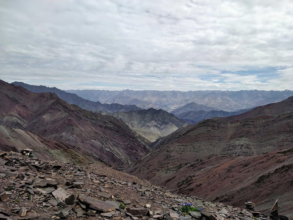 View from Kongmaru La Pass
