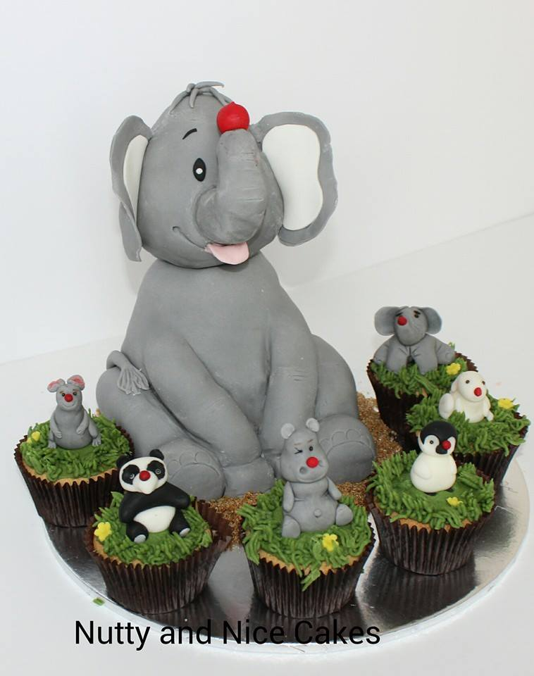 Red nose day Elephant cake