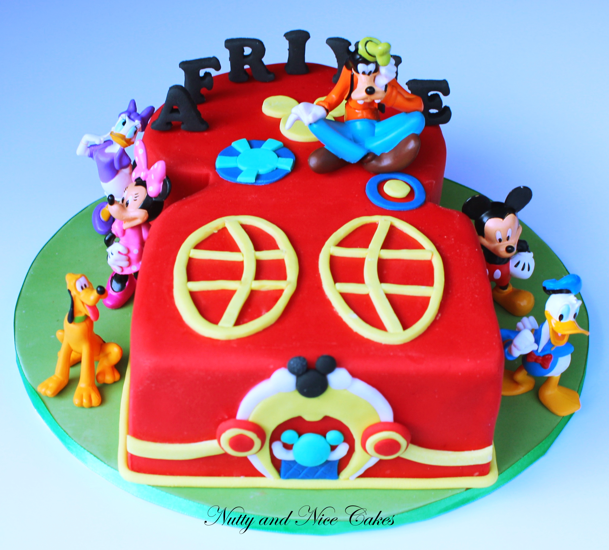 No. 2 Mickey Mouse Themed Cake
