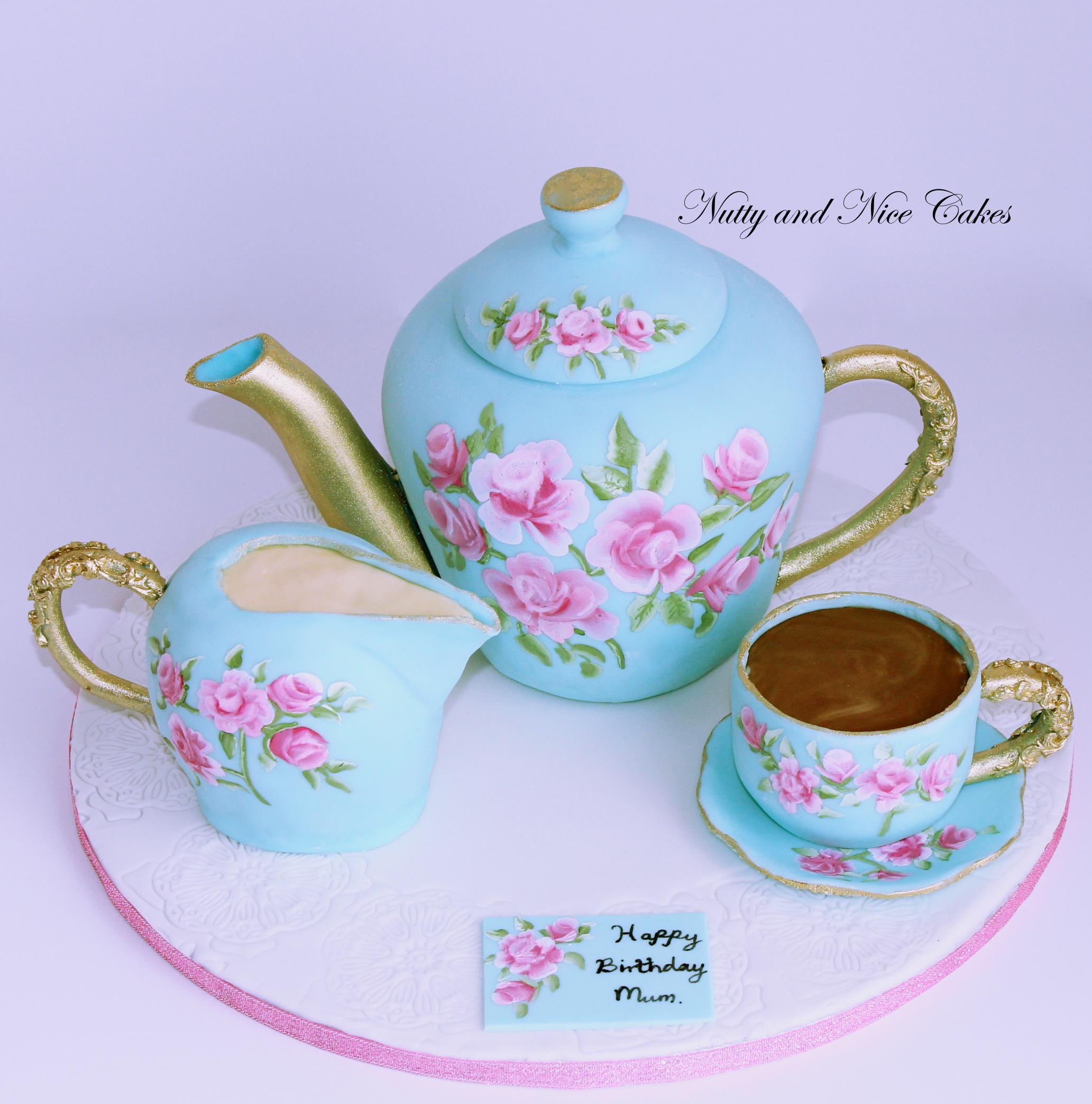 Tea set cake