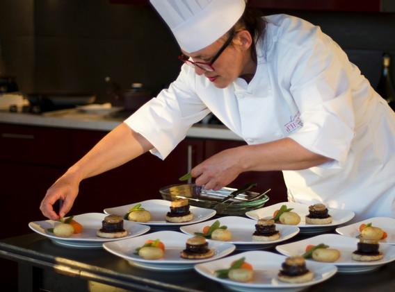 Mille feuille de boudin et foie gras