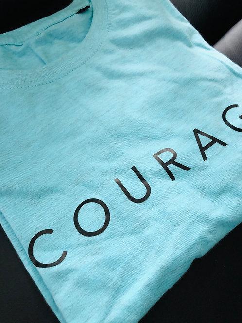 Turquoise Courage tee