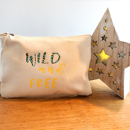 Wild and free make up bag