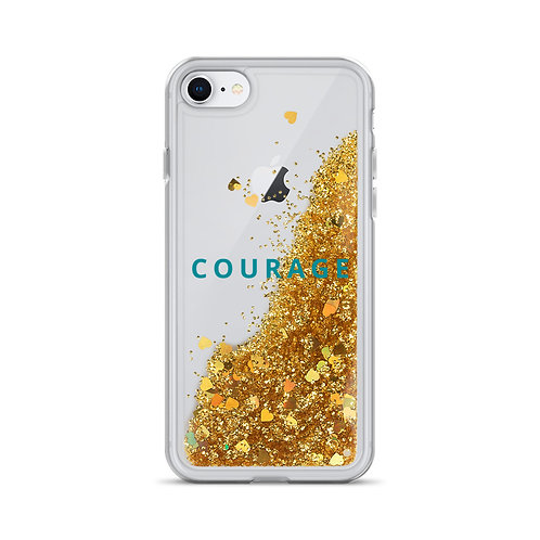 Courage- Liquid Glitter Phone Case