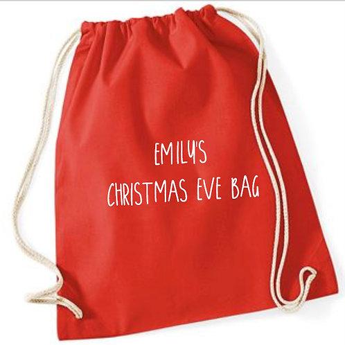 Personalised Christmas Eve treat bag