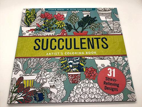 Succulents Colouring Kit
